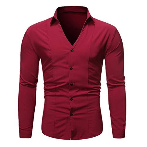 DNOQNLangarm Polo Herren Stylische T Shirts Langarm Shirt Einfache Modus Mode pur Bequeme Bluse - Junge Madonna Kostüm