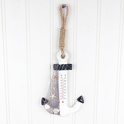 Anker Wand Thermometer–Dekorative Nautische Wand Thermometer–H inkl. Griff 42x W AM Boden des Anker-17cm (Nautische Boden)