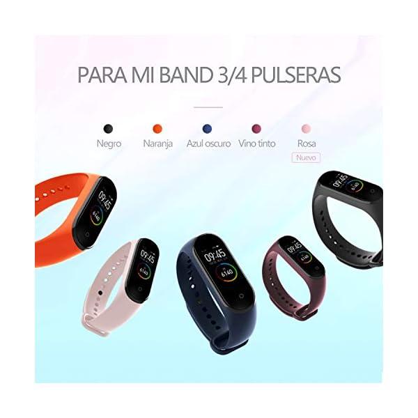 BANGTING 13 PCS Correa Compatible con Pulseras Xiaomi Mi Band 3/4, Correas para Fundas Mi Band 3 Mi Inteligente Band 4… 3