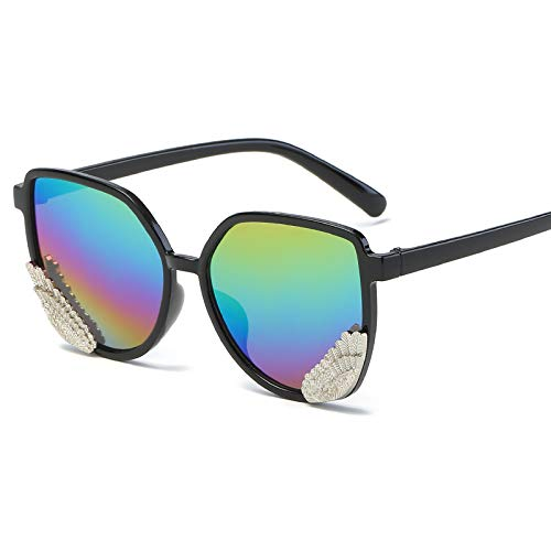 Occhiali da sole occhiali da sole ladies donna cappuccio di usura oversize occhiali classici designer occhiali da sole stile di moda cornice nera rainbow film specchio scatola panno