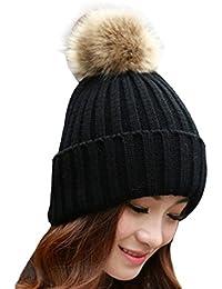 667ea96e305084 Amlaiworld Damen bunt Plüschkugel Mützen Winter Geschenk Strickmütze warm  caps Frauen Mode Crochet Gemütlich Hut