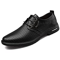 Men's Business Formal PU Leather Shoes with Shoelace Wide Large Size Breathable Casual for Formal Suits Wedding Meeting Party Shoes