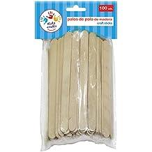Dohe 18102 - Pack de 100 palos de polo madera