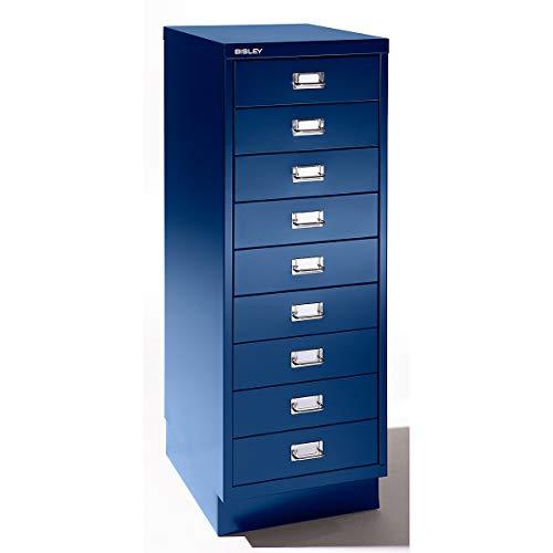 Bisley Schubladenschrank - 9 Schubladen für Format DIN A3 - kobaltblau | 114SPM-AP9 - Schubladenschrank Wandschrank Wandschränke Büroschrank