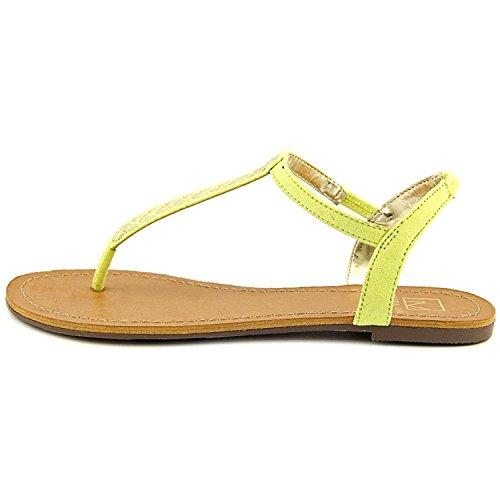 Material Girl Sage Simili daim Sandale jaune citron