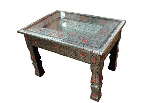 "'marroquí té mesa ""Alp Acca con tablero de cristal"