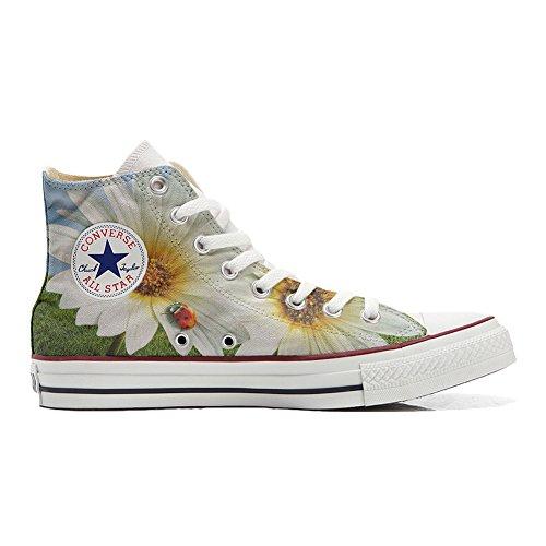 Converse All Star Customized Unisex – personalisierte Schuhe (Handwerk Produkt) Marienkäfer – size EU 40