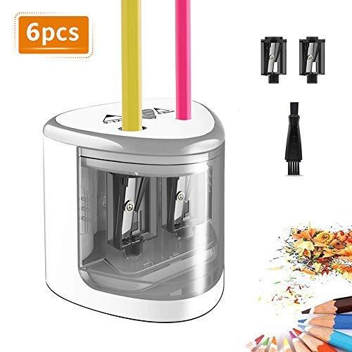 Topersun temperamatite elettrico con doppio buco da 6 mm e 12 mm, per uffico, scuola e casas