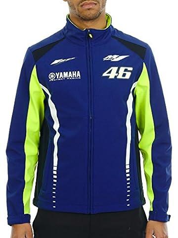 Veste Valentino Rossi Yamaha Racing Line Softshell Bleu (Xl , Bleu)