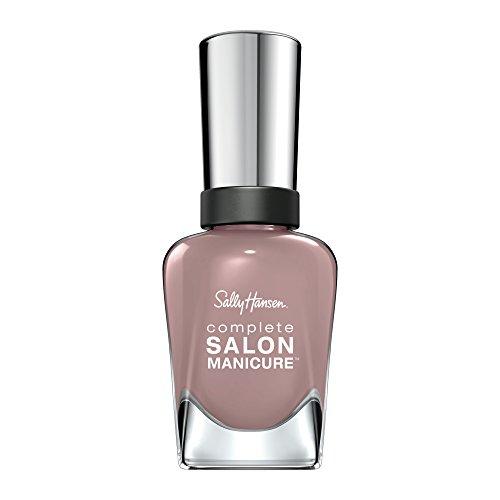 Sally Hansen Complete Salon Manicure Nagellack mit Keratinkomplex Mauve Along, Altrosa, glänzender Pflegelack ohne UV-Licht, langanhaltend Nr. 374, (1 x 14,7 ml)