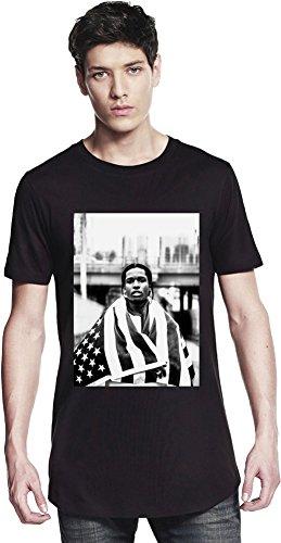 ASAP Rocky USA Flag Long T-shirt Large