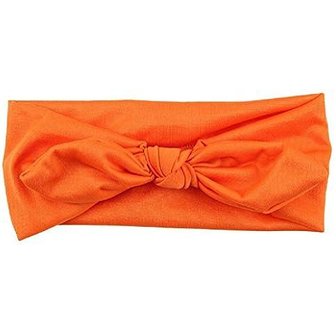 Sannysis® Conejo arco Hairband Turbante Knot Headband (naranja)