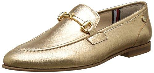 Tommy Hilfiger Damen D1285ORIS 1Z Mokassin, Gold (Gold 023), 41 EU