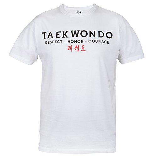 Rule Out maglietta abbigliamento da lotta. taekwondo. respect. honor. CORAGGIO PALESTRA allenamento. arti marziali Abbigliamento Casual Bianco