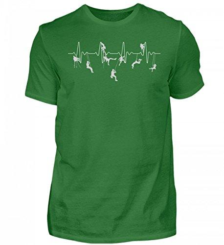 Hochwertiges Herren Organic Shirt - Klettern Shirt · Bergsteiger · Berg · Geschenk für Kletterer · Motiv: Klettern Heartbeat