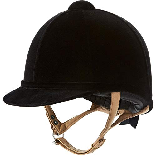 Charles Owen Fian Velvet Riding Hat 51cm black