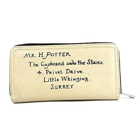 Harry Potter Letter Cream Coin & Card Zip Around Purse