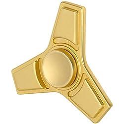 Christmas Concepts® - Tri Fidget Spinner à main - Réducteur de stress, Soulagement du stress, Autisme - Matte Gold Design