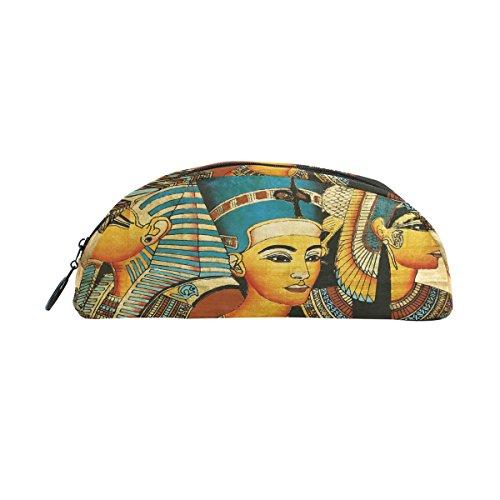zzkko Alten Ägypten Ägyptische Reißverschluss Pen Bleistift Tasche für Kinder Mädchen Jungen Jugendliche Erwachsene