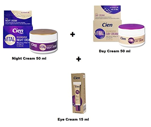 Cien Vital Regenerierende Creme (Tagescreme 50 mL + Nachtreme 50 mL + Augenkonturcreme 15 mL)