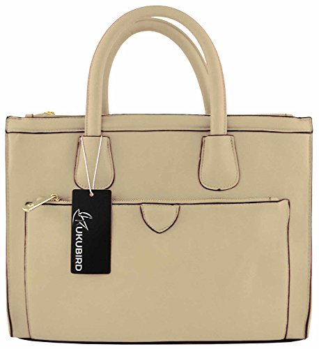 CREAM Kukubird Tote PEARL Handbag Large Leather Faux Classic xxpZr60v