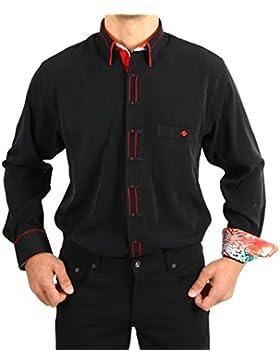 H K Mandel - Camisa casual - Asimétrico - Étnica - para hombre