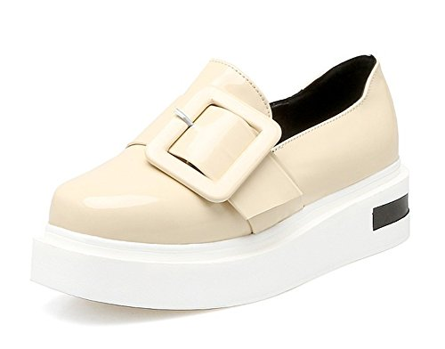 Aisun Damen Lack Metall Flach Schuhe Sneaker Rot 38 EU Gt0gIKNY3b