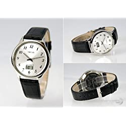 964.4716 Men's Radio-Controlled Wrist Watch Stainless Steel Case Black Wrist Strap with Stainless Steel Clasp