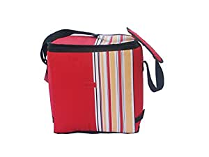 California Innovations 24 Liters Insulated Portable Travel Chiller Cooler Bag (Red)