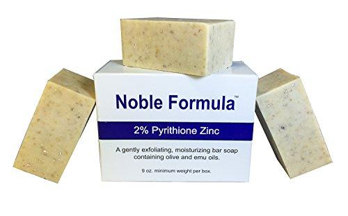 Noble Formula 2% Pyrithione Zinc (ZnP) Bar Soap 3 Oz Each, (3 Pack)