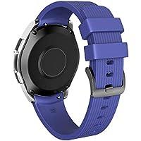 Cooljun pour Samsung Galaxy Watch 46mm,Bracelet de Montre Sport en Silicone Souple 181mm / 201mm
