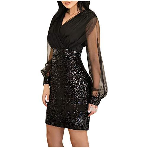 Abiti Da Donna Eleganti.Clubwear Vestito Abito Da Donna Elegante Con Scollo A V Manica