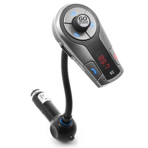 GOgroove FlexSMART X2 Bluetooth FM Transmitter für Auto Radio mit USB Ladegerät, Multipoint, Musiksteuerung, Freisprecheinrichtung Mikrofon für iPhone, Android, Samsung und vieles mehr