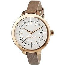 Esprit Damen-Armbanduhr Analog Quarz (One Size, weiß/rosegold) ES108192003