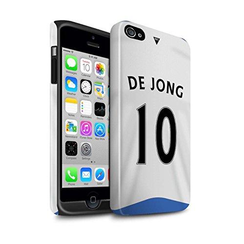 Officiel Newcastle United FC Coque / Brillant Robuste Antichoc Etui pour Apple iPhone 4/4S / Pack 29pcs Design / NUFC Maillot Domicile 15/16 Collection De Jong