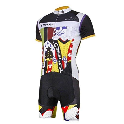 XY-QXZB Bike Cycling Jersey Tops mit Latzhosen Polyester Anti-UV Schnell trocken Breathable Kurzarm T-Shirt Tight Pants Set für Männer Frauen für Sommer Frühling Herbst, s