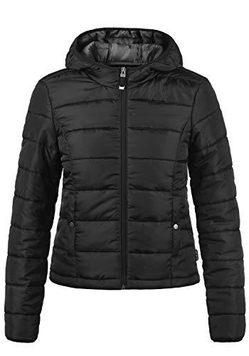 VERO MODA Pamela Damen Übergangsjacke Steppjacke leichte Jacke gefüttert mit Kapuze, Größe:M, Farbe:Black