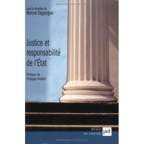 Justice et responsabilité de l'Etat