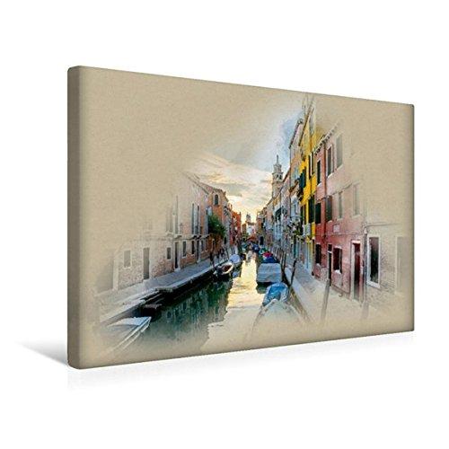 Calvendo Premium Textil-Leinwand 45 cm x 30 cm quer, Rio Di Ca Foscari | Wandbild, Bild auf Keilrahmen, Fertigbild auf echter Leinwand, Leinwanddruck Orte Orte