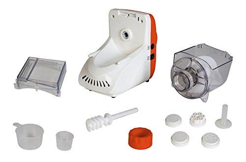 41SbDt E3UL - TKG Electric Pasta Maker with 5 Attachments, 200 W, White/Orange