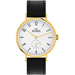 Liv in Bauhaus Style Morris 1963 Model Calypso Low Diameter 41 mm Fine Automatic Watch Solid Stainless Steel Gold Plated Men's Watch Sapphire Glass Seagull Automatic Mechanical Clock