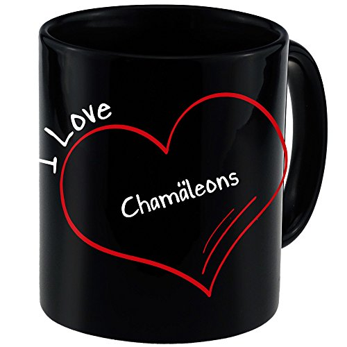 Price comparison product image Modern Coffee Cup I Love Chameleons Black