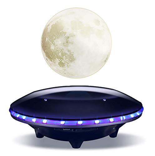BUY-TO Drahtlose Lautsprecher Schwimmender 3D Mond Tragbarer Bluetooth-Player Weihnachten Geburtstagsgeschenk,Black