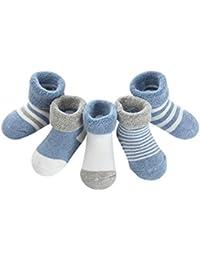 DEBAIJIA 5 Paia Calzini Bambini Calze Ragazze Ragazzo Cotone Neonati Conforto Per Primavera Estate Autunno