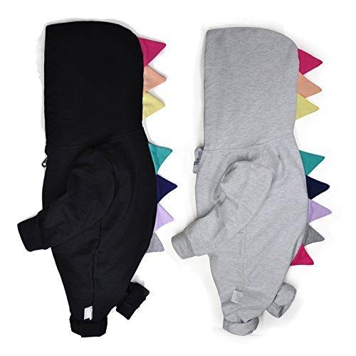 Minilove Baby Cotton Dinosaur Hoodie Jumpsuit, 100/24M (Multicolour, 4336256808)