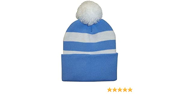 Arena Scarves QPR Supporters Royal Blue and White Bobble Hat