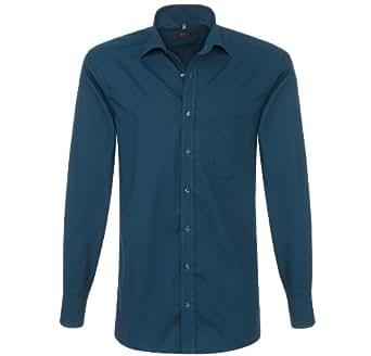 Eterna Herrenhemd Langarm Baumwoll Hemd Baumwollhemd Herren Business Modern Fit Blau Gr. M-39