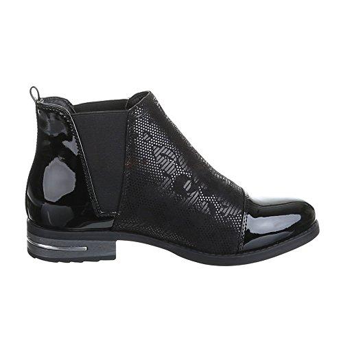 Damen Schuhe, H500, ANKLE BOOTS Schwarz
