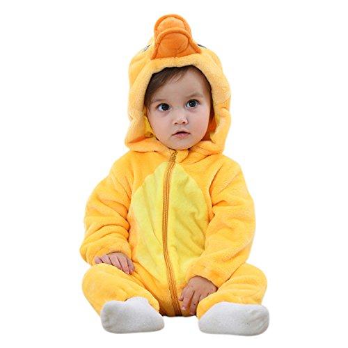 CHIC-CHIC Baby Strampler Winter Overall Tier Babyschlafsack Tiger Schlafanzug Ente Kleinkind Kaninchen Kapuzejacke Leopard Strampelanzug (Herren Schlafanzug Tiger Strampelanzug,)