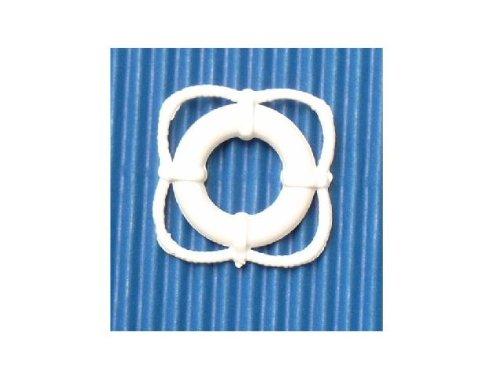 aero-naut 606525 Rettungsring 25mm Plastik weiß 2 Stück
